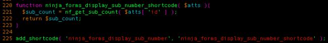 ninja forms vulnerability shortcode generation