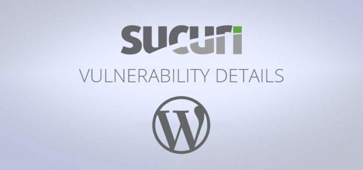 WordPress Vulnerablity Disclosre