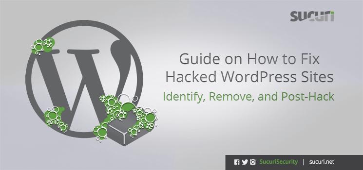 fix hacked wordpress guide