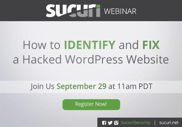 webinar clean hacked wordpress
