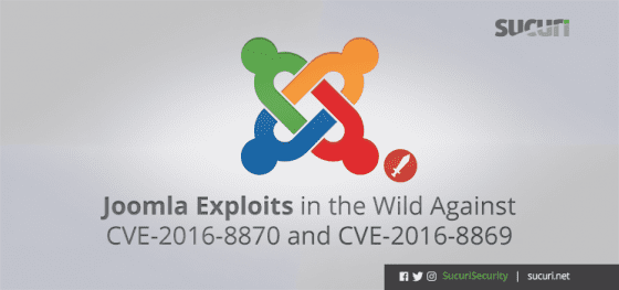 Joomla Exploits in the Wild Against CVE-2016-8870 and CVE-2016-8869