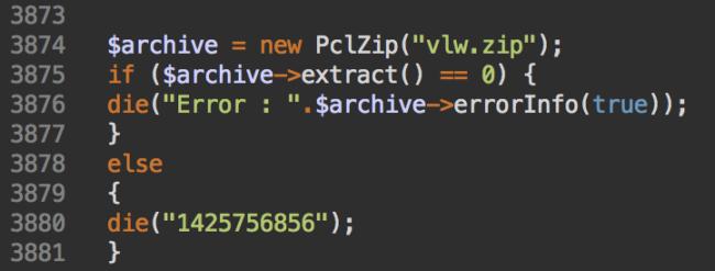 Extrayendo archive zip con malware black hat SEO