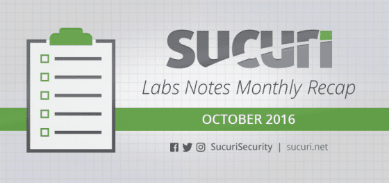 Labs Notes Monthly Recap – Oct/2016