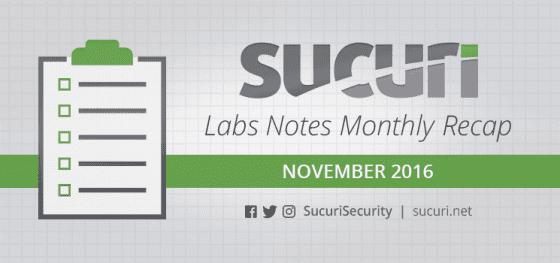 Labs Notes Monthly Recap – Nov/2016
