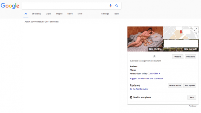 google business image spam