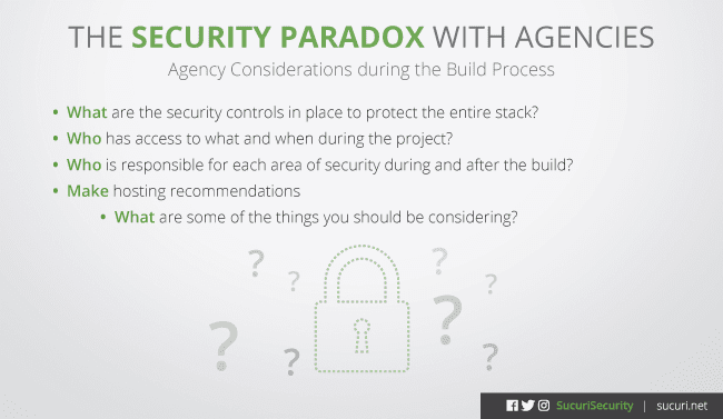 security issues for dev and design agency clients
