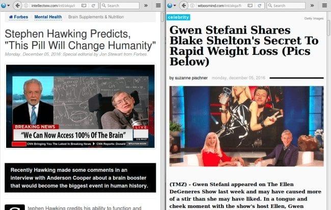 malicious clickbait headlines