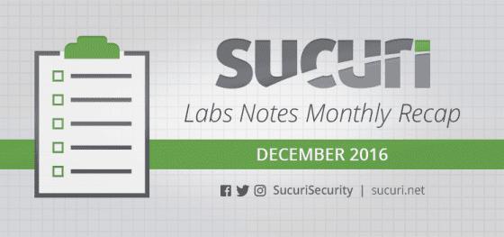 Labs Notes Monthly Recap – Dec/2016