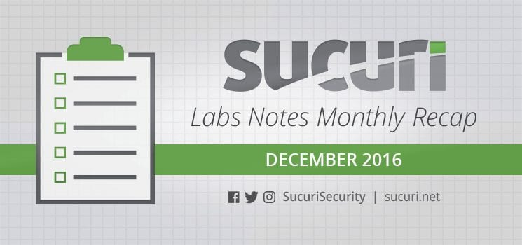 Labs Notes Monthly Recap – Dec/2016