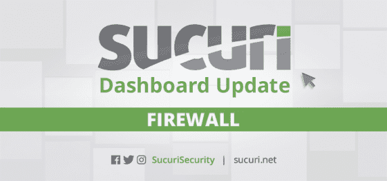 Sucuri Firewall Dashboard Update