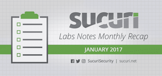 Labs Notes Monthly Recap  – Jan/2017