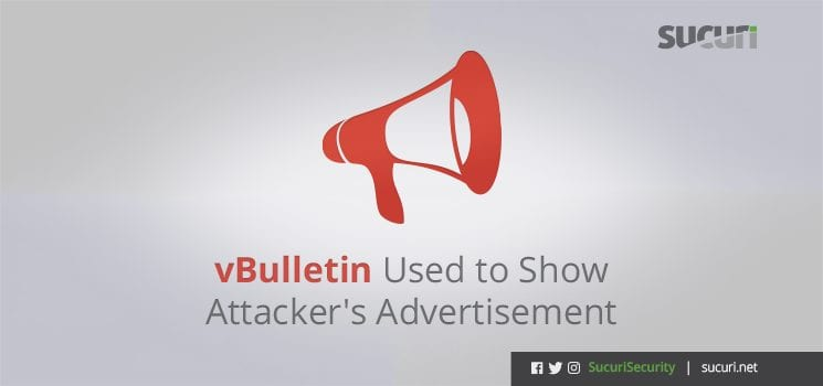vBulletin Used to Show Malicious Advertisements