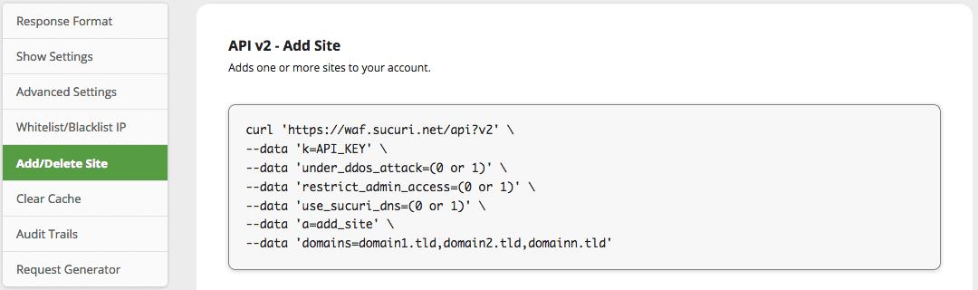 Sucuri Firewall Dashboard Update