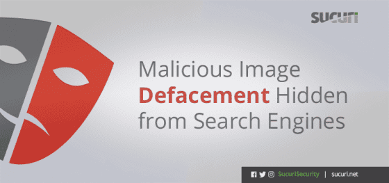 Malicious Image Defacement Hidden from Search Engines