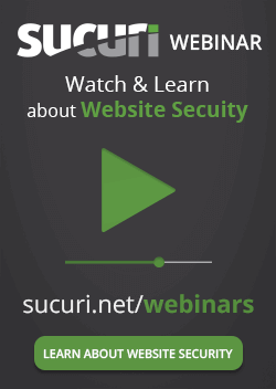 Sucuri website security webinars