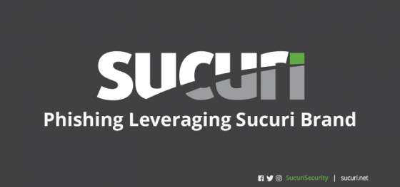 Phishing Leveraging the Sucuri Brand