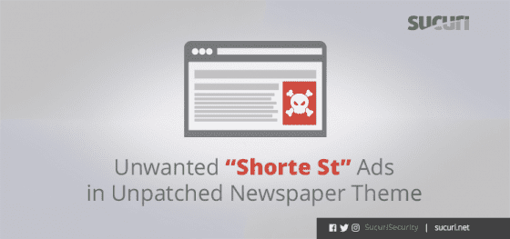 "Unwanted ""Shorte St"" Ads in Unpatched Newspaper Theme"