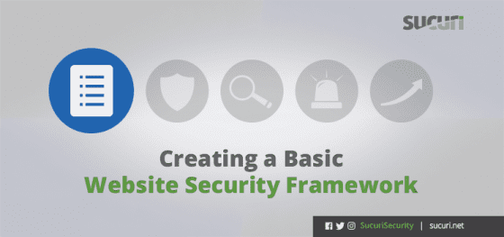 Creating a Basic Website Security Framework
