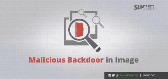 malicious backdoor in image blog post header