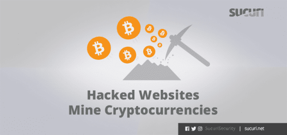 hacked website mine cryptocurrencies blog header