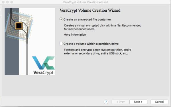 veracript volume creation wizard dialog box sucuri