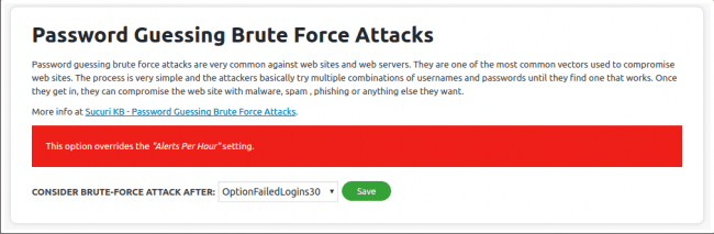You can block brute force attacks using the Sucuri Firewall