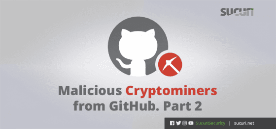 Malicious Website Cryptominers from GitHub. Part 2.