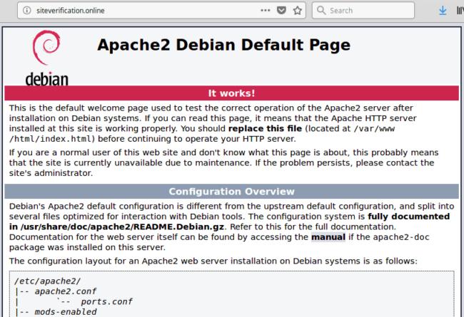 Apache2 Debian Default Page