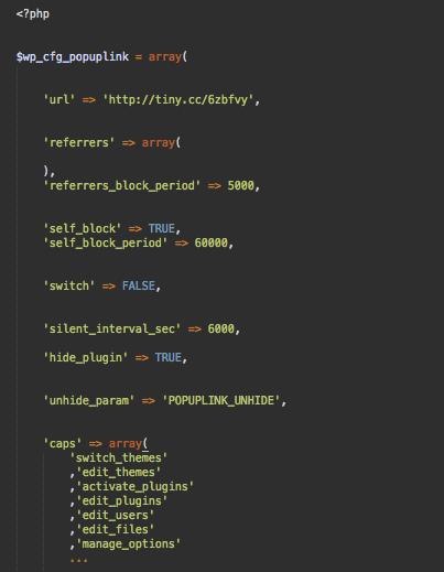 Malware config