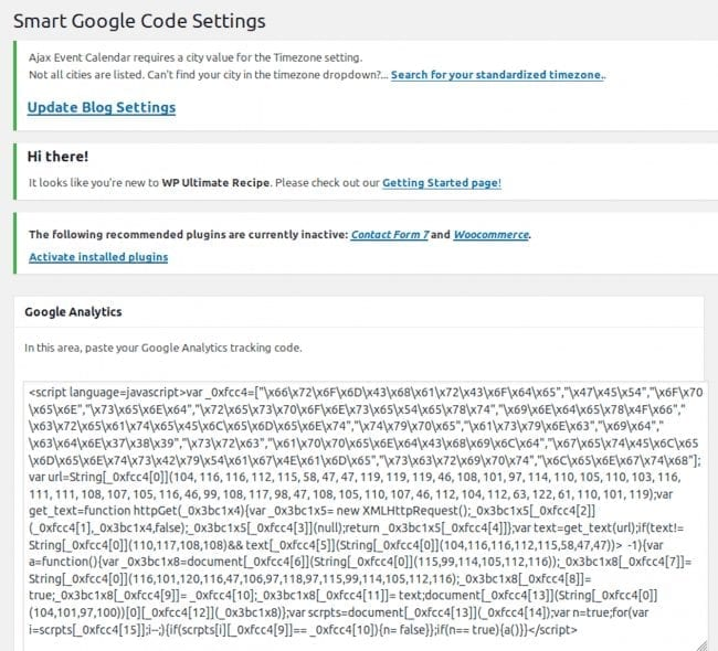 Smart Google Code Settings