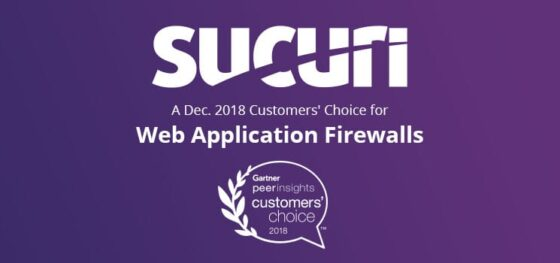 Sucuri Named December 2018 Gartner Customers' Choice for Web Application Firewalls