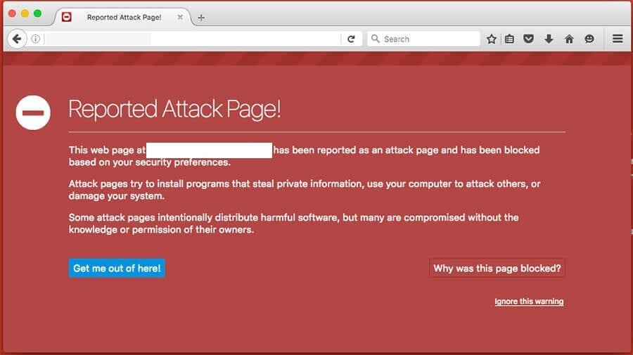 Firefox Blacklist Warning