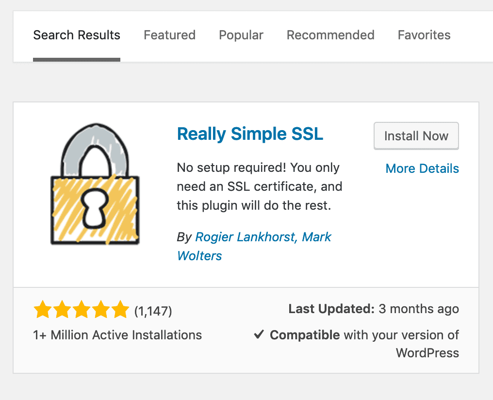 Activate Really Simple SSL Plugin in WordPress