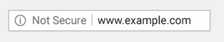 Not Secure Website Warning in Chrome 68