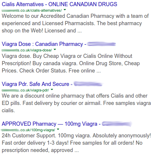 Example of SEO Spam