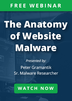 The Anatomy of Website Malware Webinar