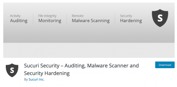 Sucuri Security Free WordPress Plugin – Auditing, Malware Scanner and Security Hardening