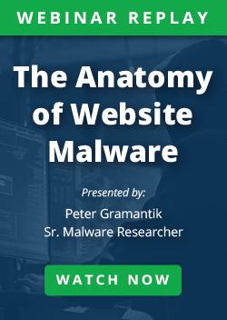 The Anatomy of Website Malware Webinar
