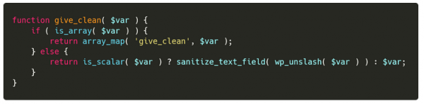 ​​The function recursively cleaning text fields