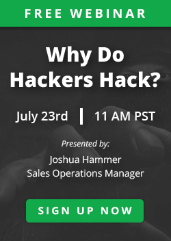 Webinar: Why do Hackers Hack?
