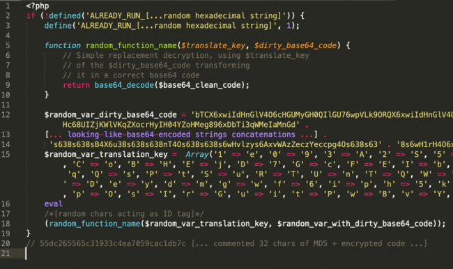Second example of the code structure ALREADY_RUN_