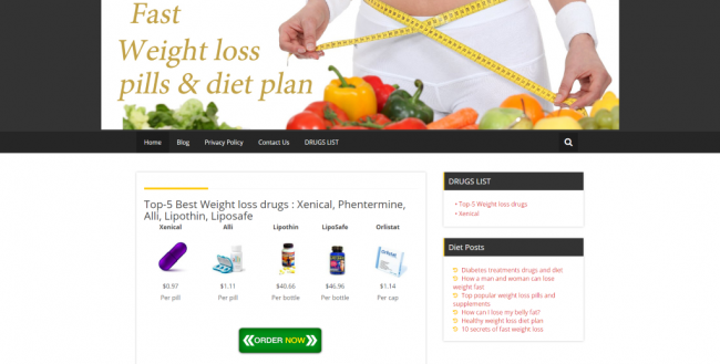 Malicious Spam Leads to Weight Loss Websites