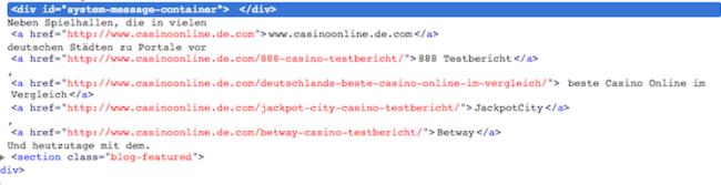 Bingbot user agent results