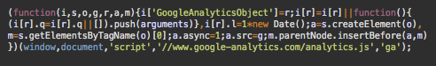 Real Google Analytics code