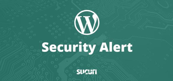 WordPress Security Alert